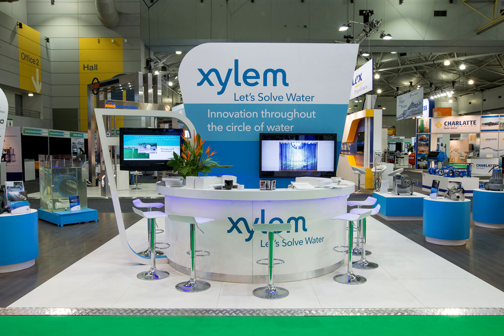 xylem water solutions   impact displays   unique custom